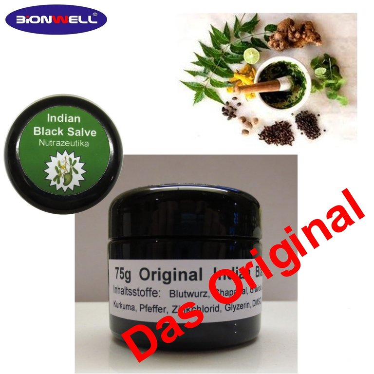75g Indian Black Salve Balm Schwarze Salbe Adrian Jones